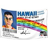 McLovin ID Flag Fake Driver License Flag,3x5 Feet Banner,Funny Poster UV Resistance Fading & Durable Man Cave Wall Flag…
