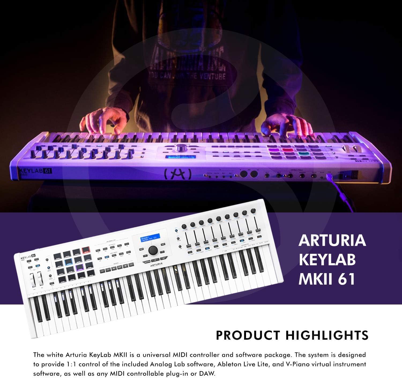 Arturia KeyLab MKII 61 Controlador de teclado profesional ...