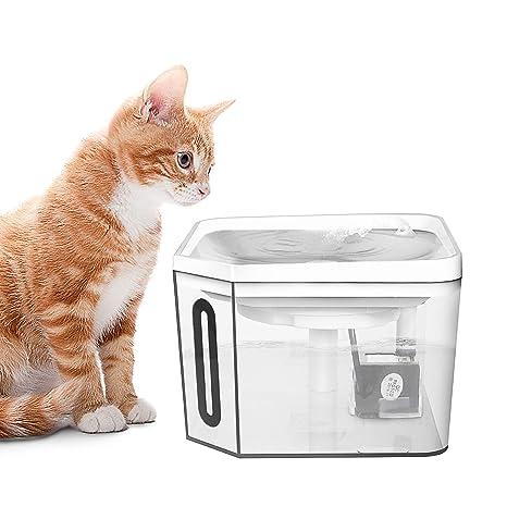 PEDOMUS Pepomus Fuente de Agua para Mascotas, dispensador de Agua automático para Mascotas, Filtro