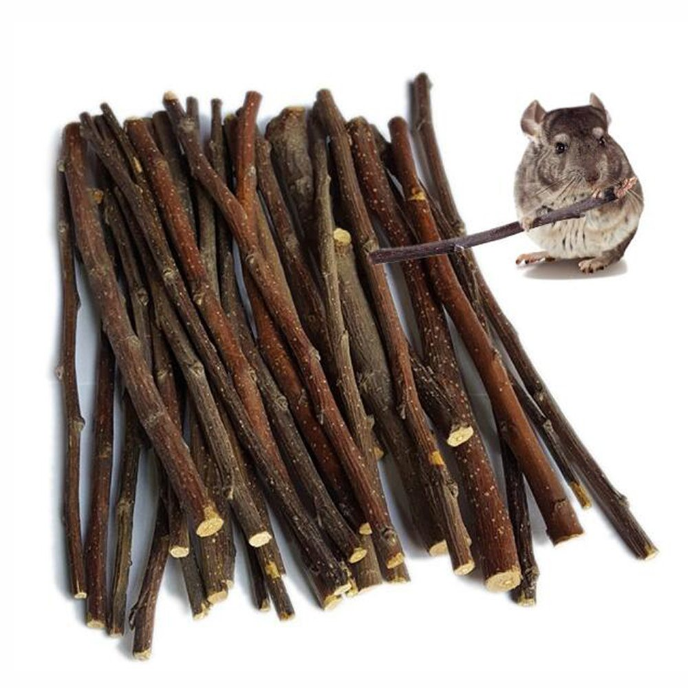 MaiTaiTai 500g Natural Apple Sticks Pet Snacks Chew Toys for Guinea Pigs Chinchilla Squirrel Rabbits Hamster Guinea Pigs