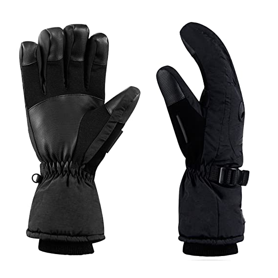 4836f23a281d3 Amazon.com : HighLoong Men's Waterproof Ski Snowboard Gloves Warm Thinsulate  Lined Cold Winter Skiing Snowboarding Glove : Sports & Outdoors