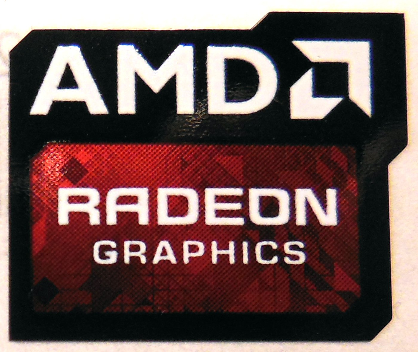 AMD Original Radeon Graphics Sticker 16 x 20mm [778]
