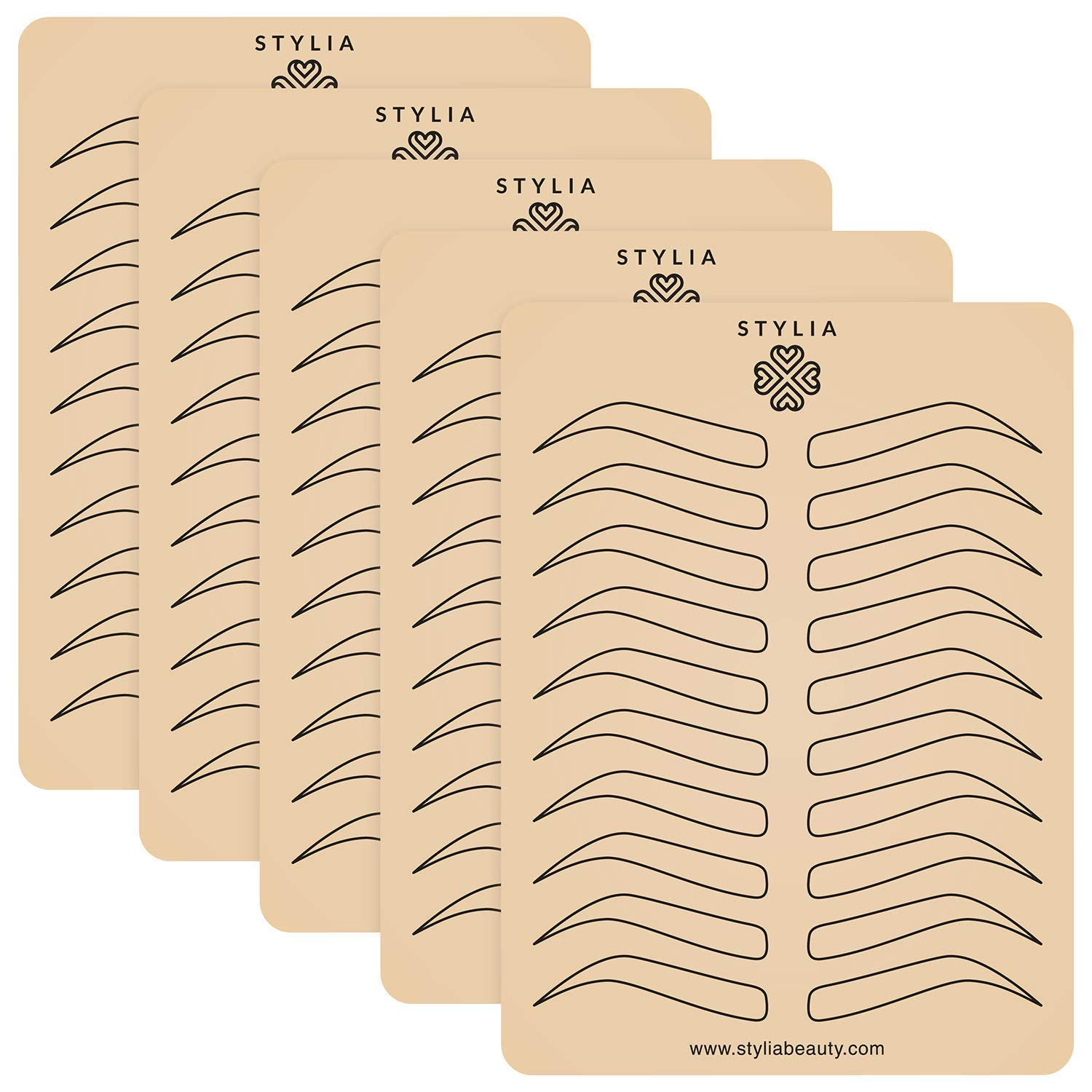 Microblading Supplies 5 Piece Inkless Double Sided Practice Skin For Eyebrow Tattoos: Permanent Makeup Silicone Skins To Practice Brow Micro-Blading And Needling, Fake Skin Sheets