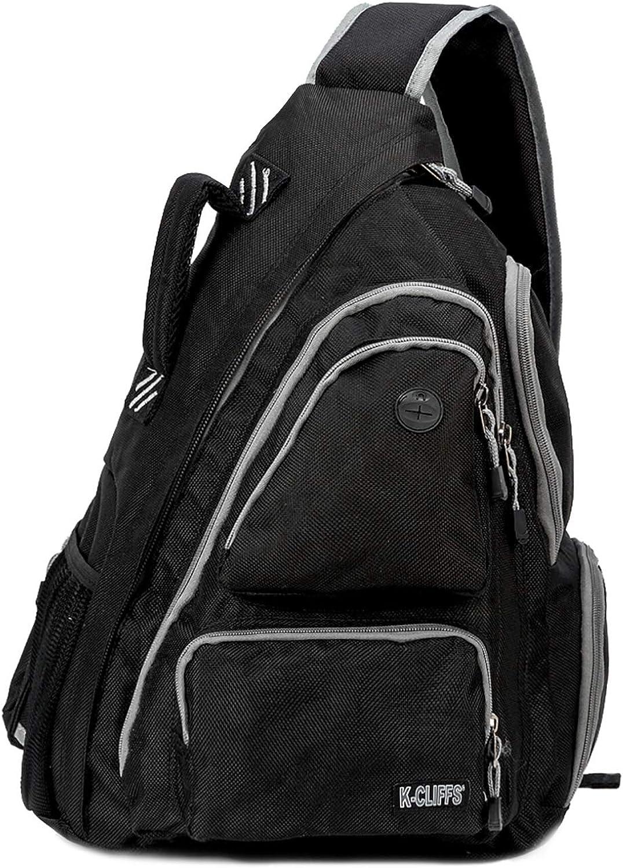 K-Cliffs Water-Resistant Sling Backpack   Safety Retro-Reflective Strip