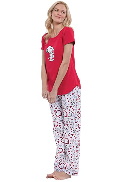 PajamaGram Officially Licensed Snoopy Valentine s Day Women s Pajamas cf9efb0ea