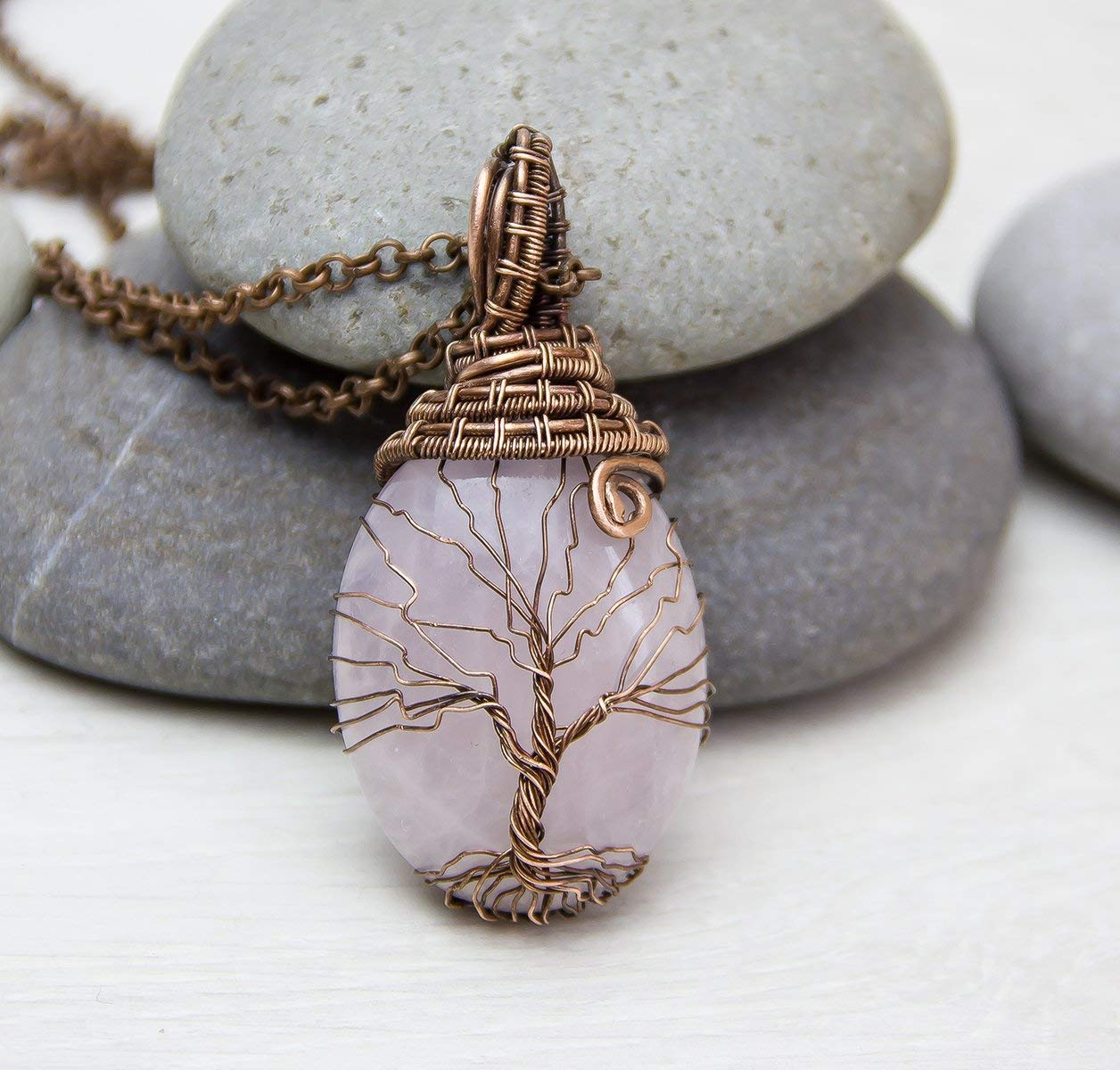 Copper Rose copper wrapped Pendant