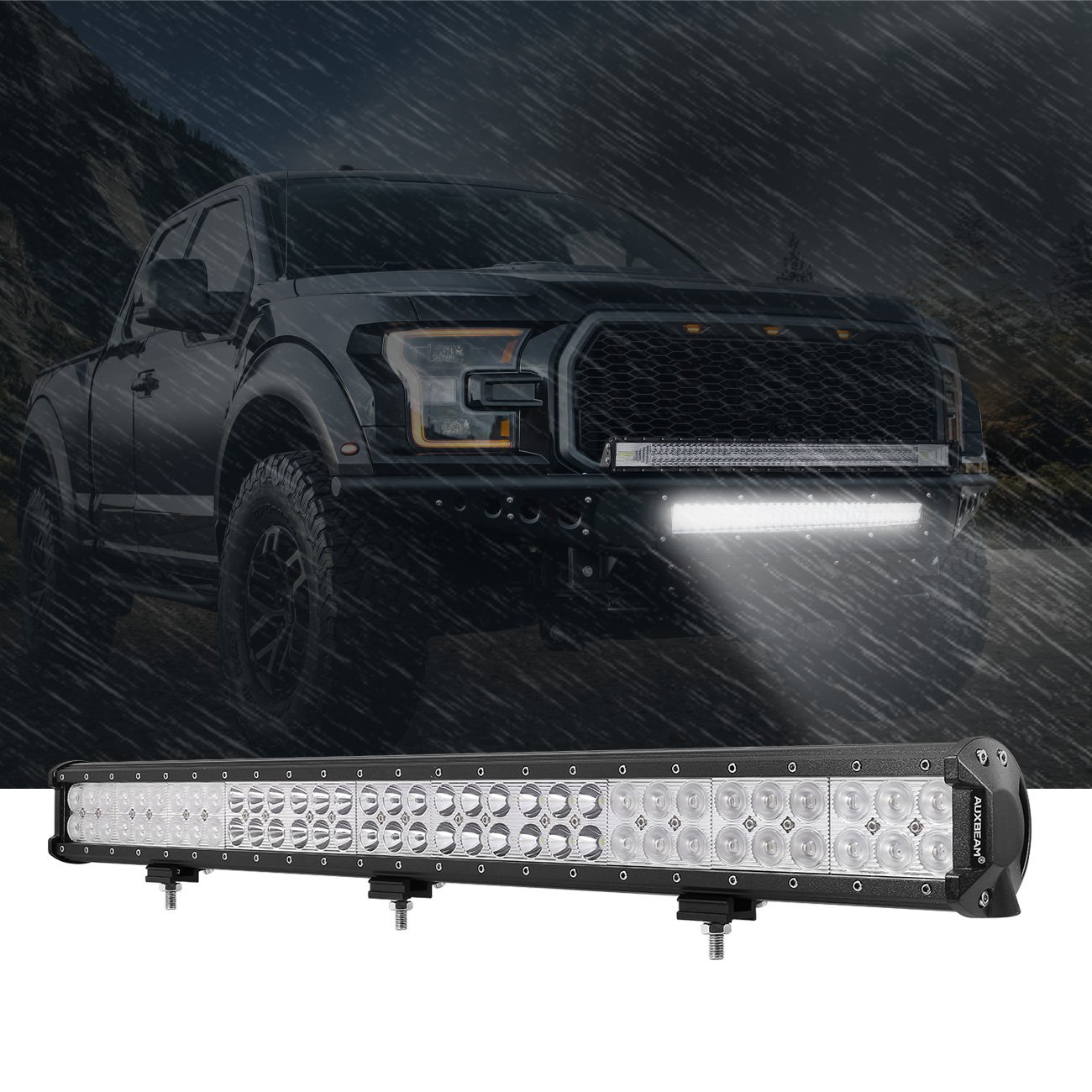 Auxbeam LED Light Bar 30 Inch LED Bar 198W Combo 66pcs 3W Led Chips Driving Light Waterproof for Off-Road Truck 4x4 Military Mining Boating Farming and Heavy Equipment by Auxbeam (Image #6)