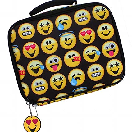 261914b61c6c Image Unavailable. Image not available for. Color  EmojiNation School Lunch  Box - Black Emoji Emotions