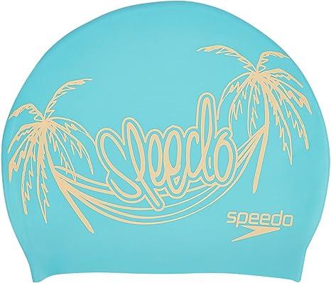 Speedo 808385C500 Gorra de Natación, Mujer, Blanco (Azul Bali ...