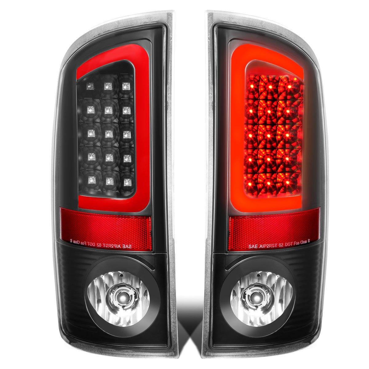 Passenger /& Driver Side DNA Motoring TL-DRAM05-LED-RD3D-BK-CL Tail Light Assembly