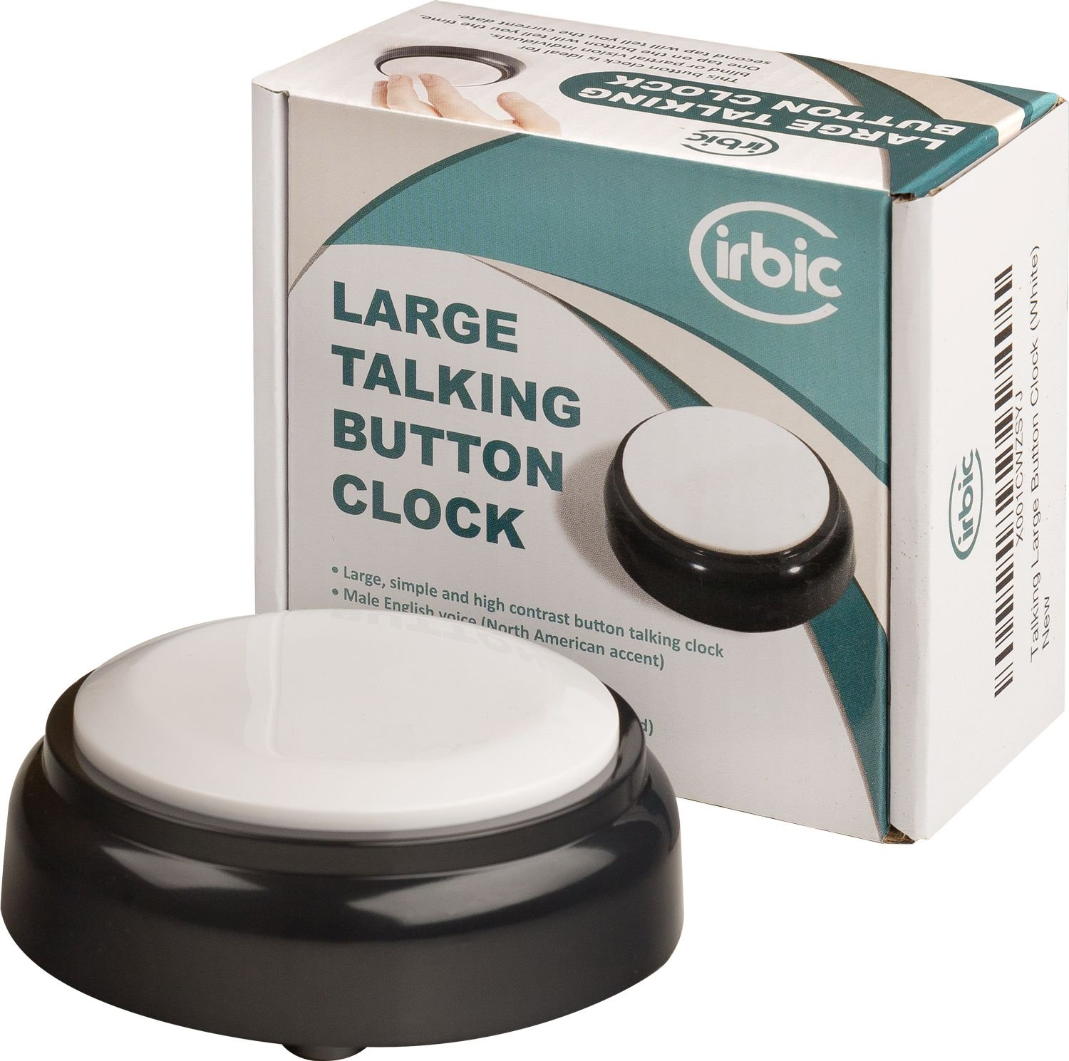 Talking Large Button Alarm Clock - Telling Time and Date for Elderly, Impaired Sight or Blind