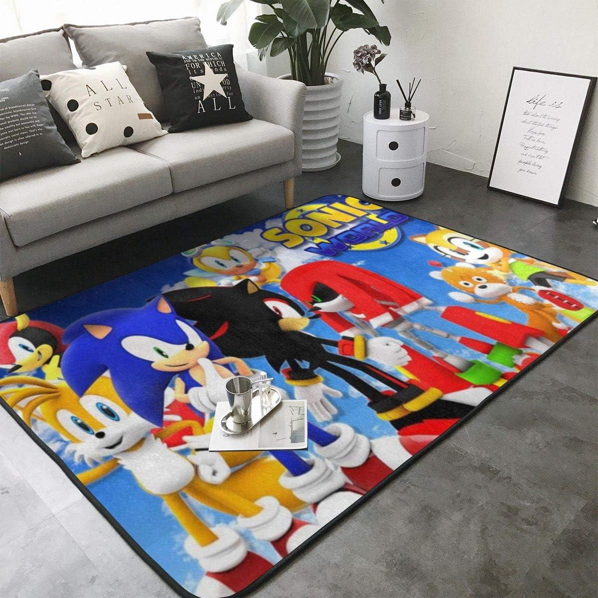 So-nic The Hed-gehog 1 Home Decoration Large Rug Floor Carpet Yoga Mat, Modern Area Rug for Children Kid Playroom Bedroom 36 x 24 inch