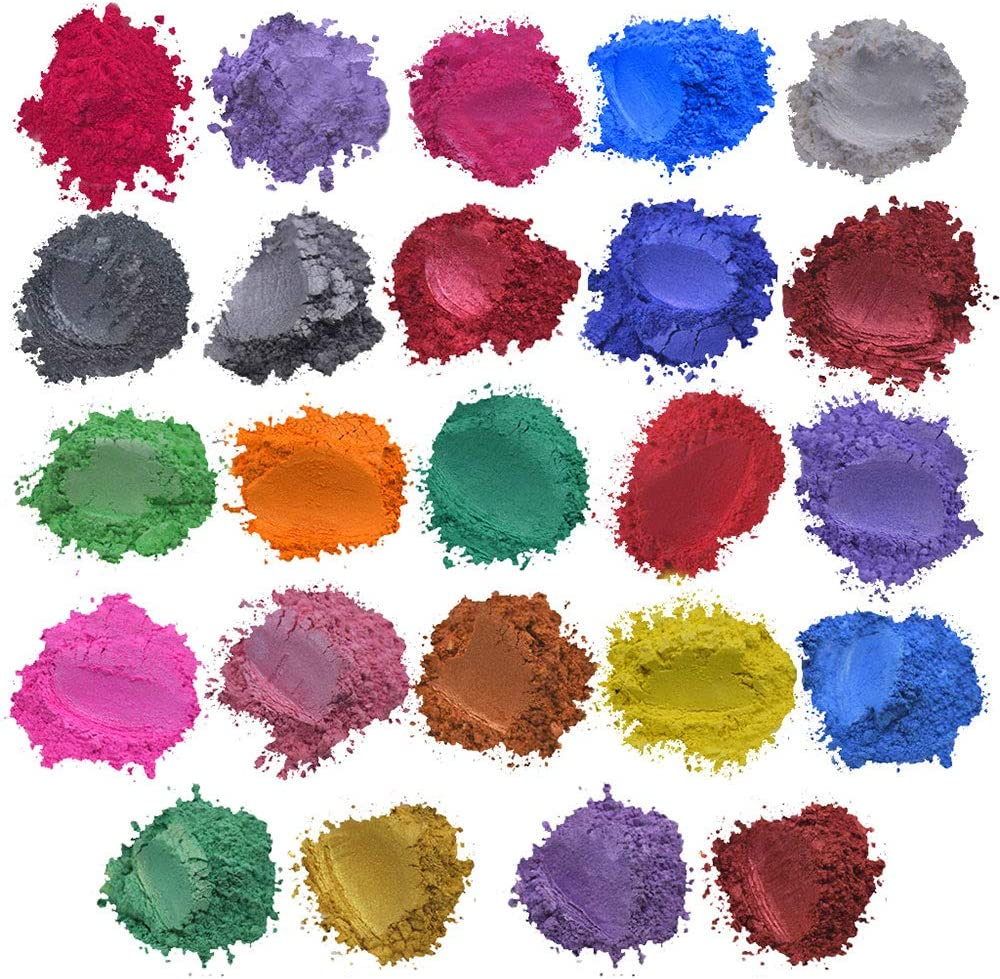 Cosmetic Grade Mica Powder Pigment for Soap Bath Bombs Mineral Make Up Nail Art