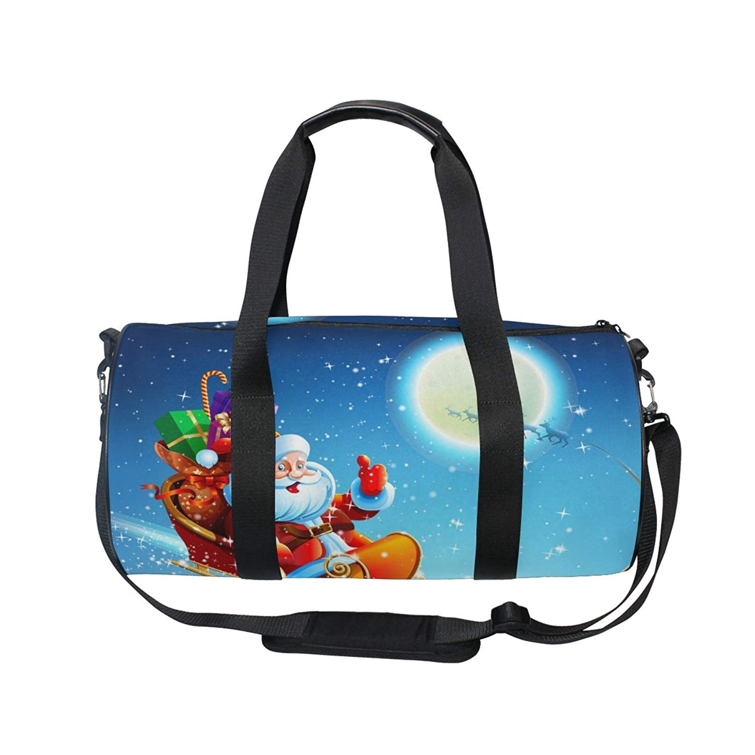oulian Planets Stars Galaxy Space便利スポーツジムショルダーダッフルバッグ One Size picture7 B07FSJGLGB