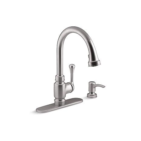 Kohler Kitchen Faucets.Kohler Carmichael Kitchen Faucet Stainless Steel