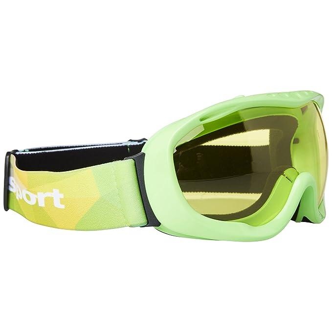 Ultrasport 331500000090 Gafas de esquí y Snowboard con Lente antivaho, Unisex Adulto, Verde/Amarillo, Talla Única: Amazon.es: Deportes y aire libre