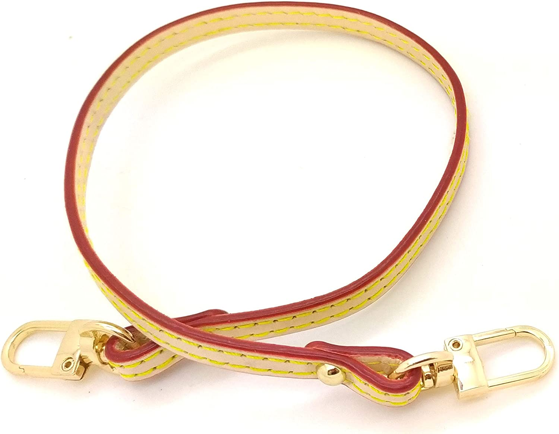 Nelliz 15.7 x 0.27 Genuine Tanning Vachetta Cowhide Leather Shoulder Strap Replacement for Pochette accessoires Mini pochette eva felicie Favorite neverfull Pouch