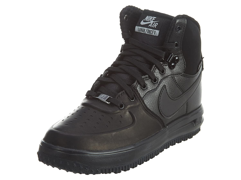 Nike Lunar Force 1 Sneaker Boots Kids , Black, Size 4