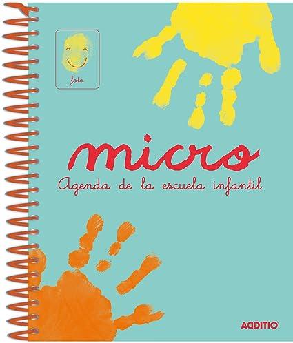 Additio A102 - Agenda Micro para escuela infantil, 0 a 3 años, color azul