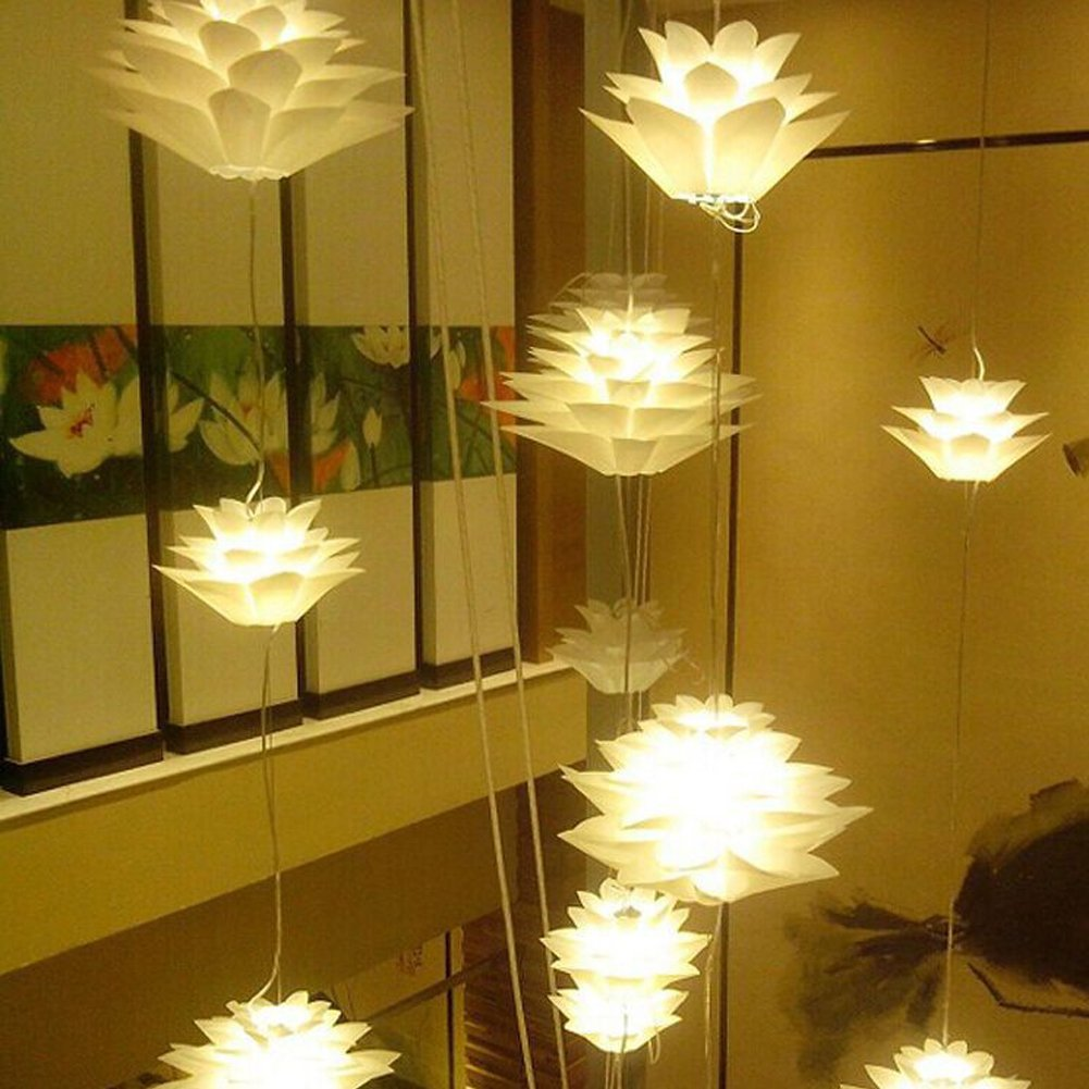 Amazon Lamps Shade Alotm Diy Kit Lotus Chandelier Iq Pp