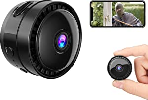 Mansso Mini Hidden Camera - 1080P Wireless WiFi Nanny Cam Home Security Camera,Small Portable Secret Camera with Watch Band, Micro Surveillance Camera with Video Recording and Live Stream