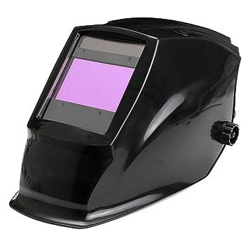 KUNSE Gran Vista Área Solar Auto Oscurecimiento Soldadura Casco Máscara para Arco Mig TIG Weld: Amazon.es: Hogar