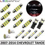 LEDpartsNow Interior LED Lights Replacement for 2007-2014 Chevy Tahoe and Suburban Accessories Package Kit