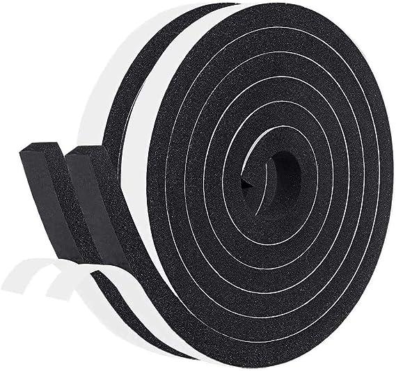 Fowong Ultra Strong - Cinta adhesiva de doble cara (polietileno de célula cerrada, cinta adhesiva de espuma, gomaespuma), color negro: Amazon.es: Bricolaje y herramientas