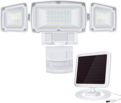 1600LM Solar LED Motion Sensor 5500K White Light Solar Security Light Outdoor