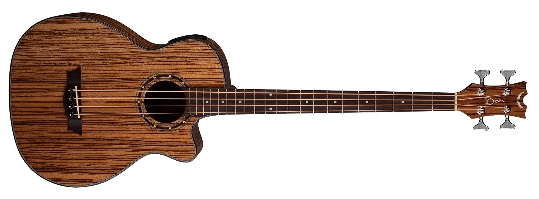Dean EAB ZEBRA Exotica Acoustic/Electric Bass Guitar with Aphex - Zebra Wood