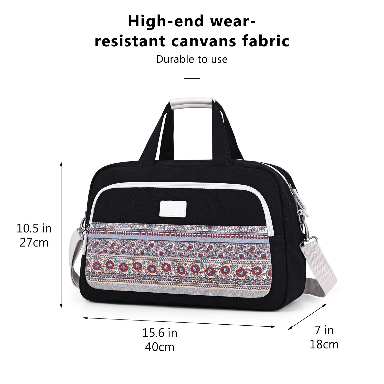 ArcEnCiel Weekend Travel Bag Ladies Women Duffle Tote Bags Canvas Overnight Pack