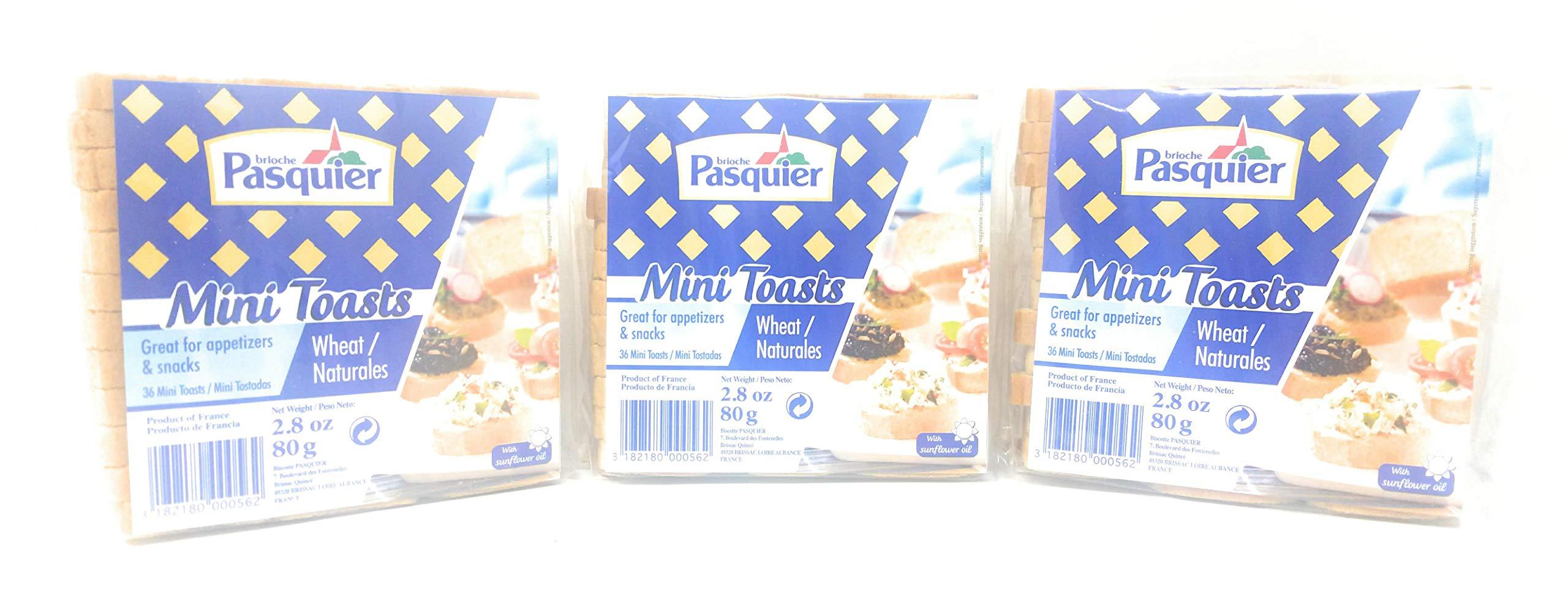 Brioche Pasquier Mini Toasts 80g, 3 Pack by Brioche Pasquier