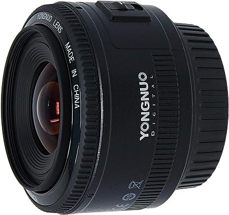 Yongnuo YN35MM Canon - Objetivo para cámara réflex (f/2.0 AF/MF ...