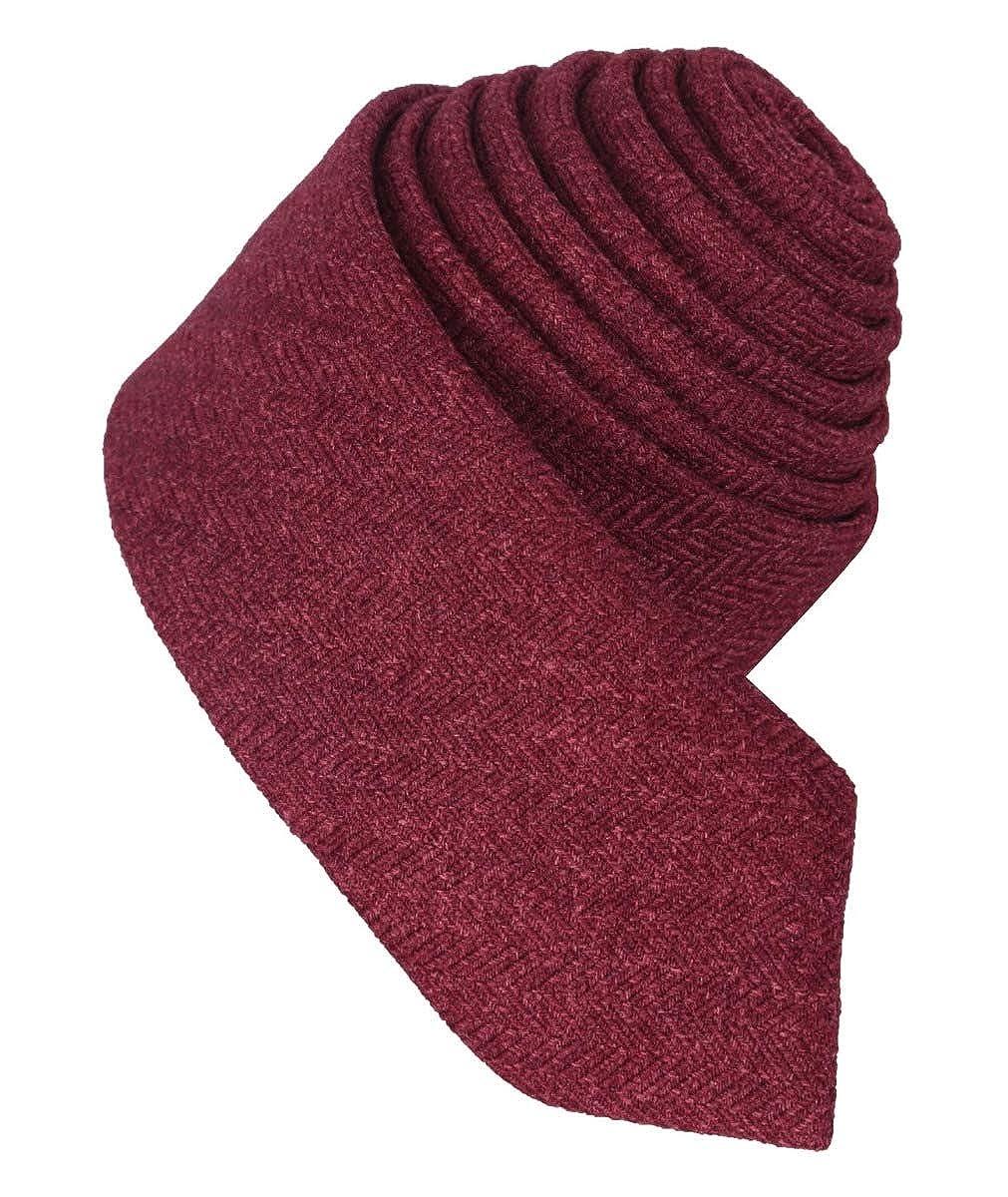 con cravatta e tasca quadrata in tweed a spina di pesce Set da uomo e ragazzo bordeaux colore