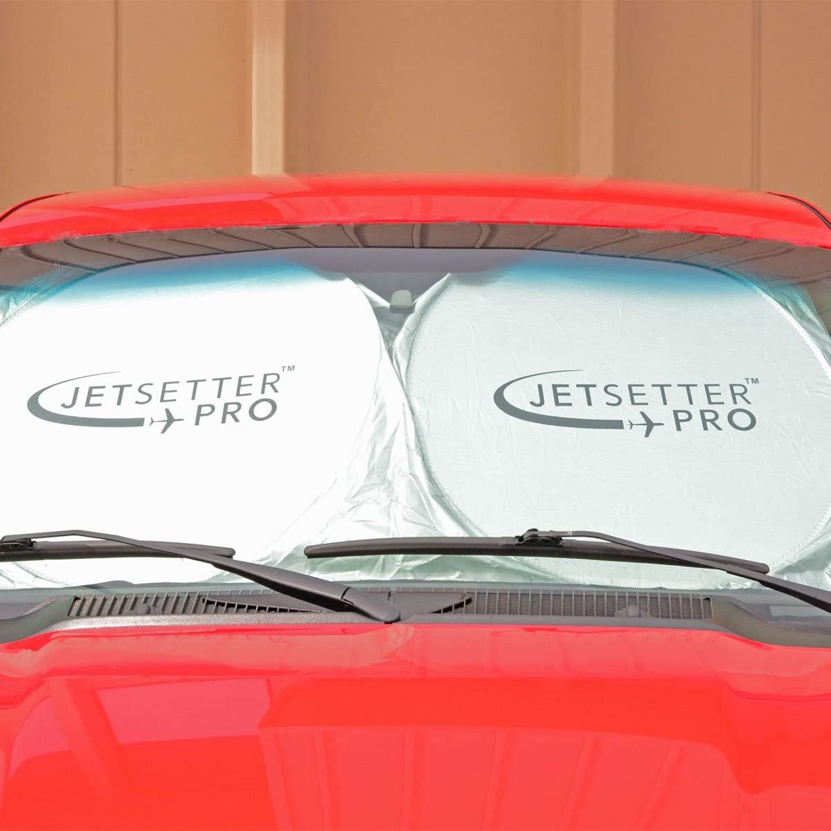 Interior Damage and Fading Easy and Convenient Pop Out Design Shields Your Vehicle Interior From Harmful UV Rays Prevent Burns JetSetter Pro Jumbo Flexi-shield Sunshade Nylon Material 100/%