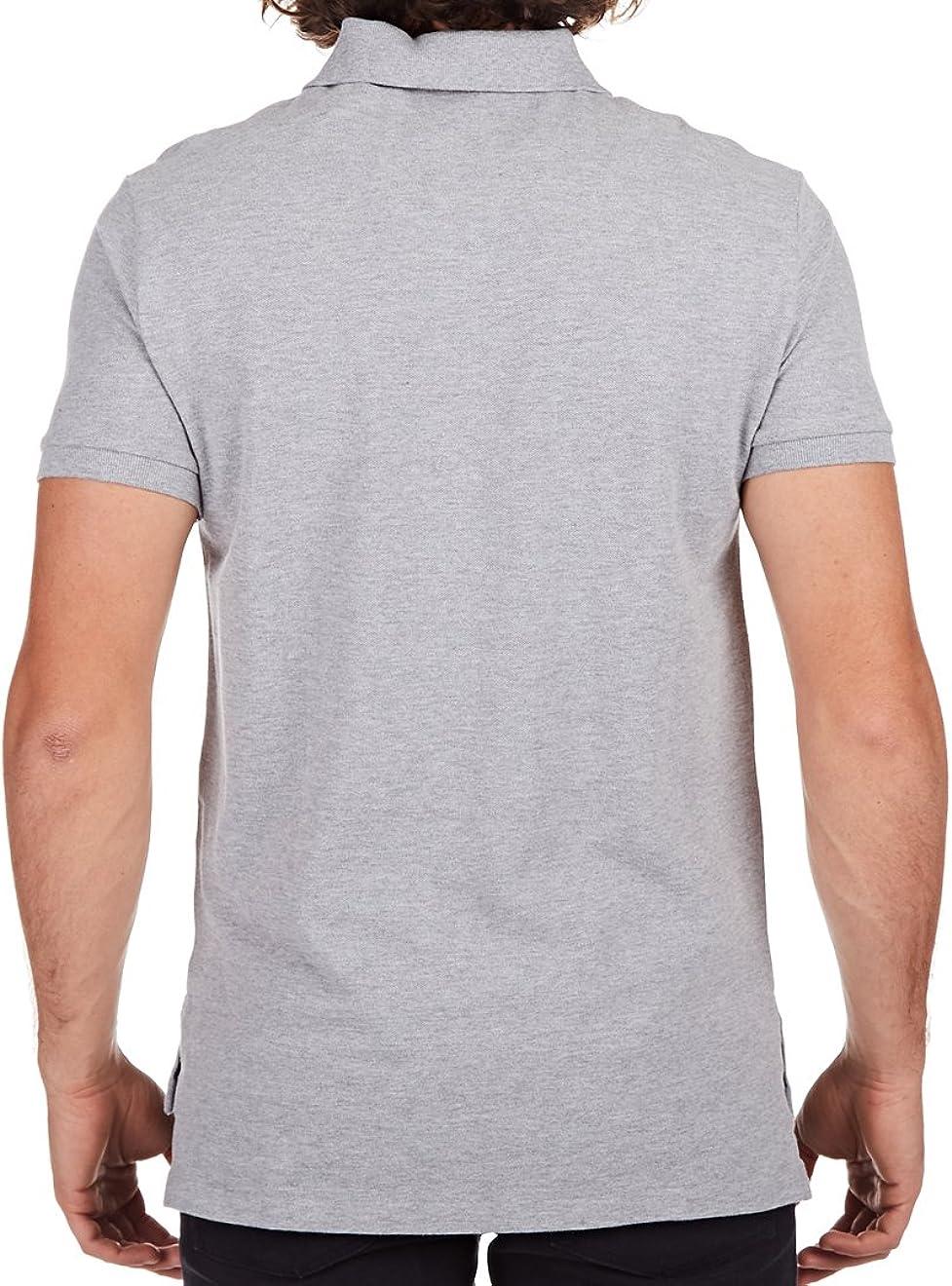 X-Large, Grey Polo Ralph Lauren Men Custom Fit Mesh T-shirt