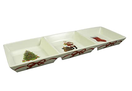 martha stewart divided serving tray christmas