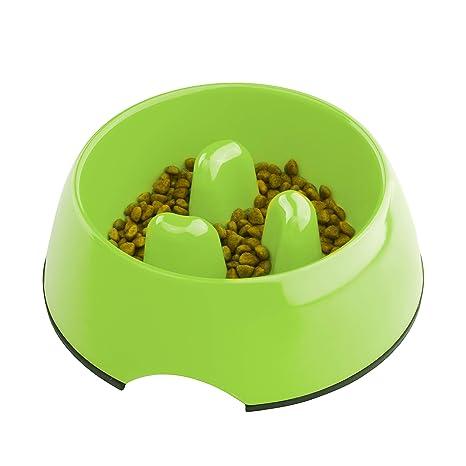 Super Design Comedero Lento en Melamina, Comedero Antivoracidad Antideslizante para Perros y Gatos, Ralentizar