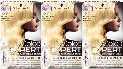 3 x Schwarzkopf Color Expert Omegaplex Tinte para el cabello ...