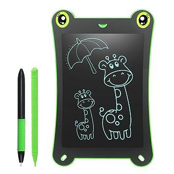 Pizarra Electronica LCD para Niños 8.5 Pulgadas Bloc de Dibujo 2 Imanes 2 Plumas sin Papel Reutilizables para Garabatear Pintura de Escritura Juguetes ...