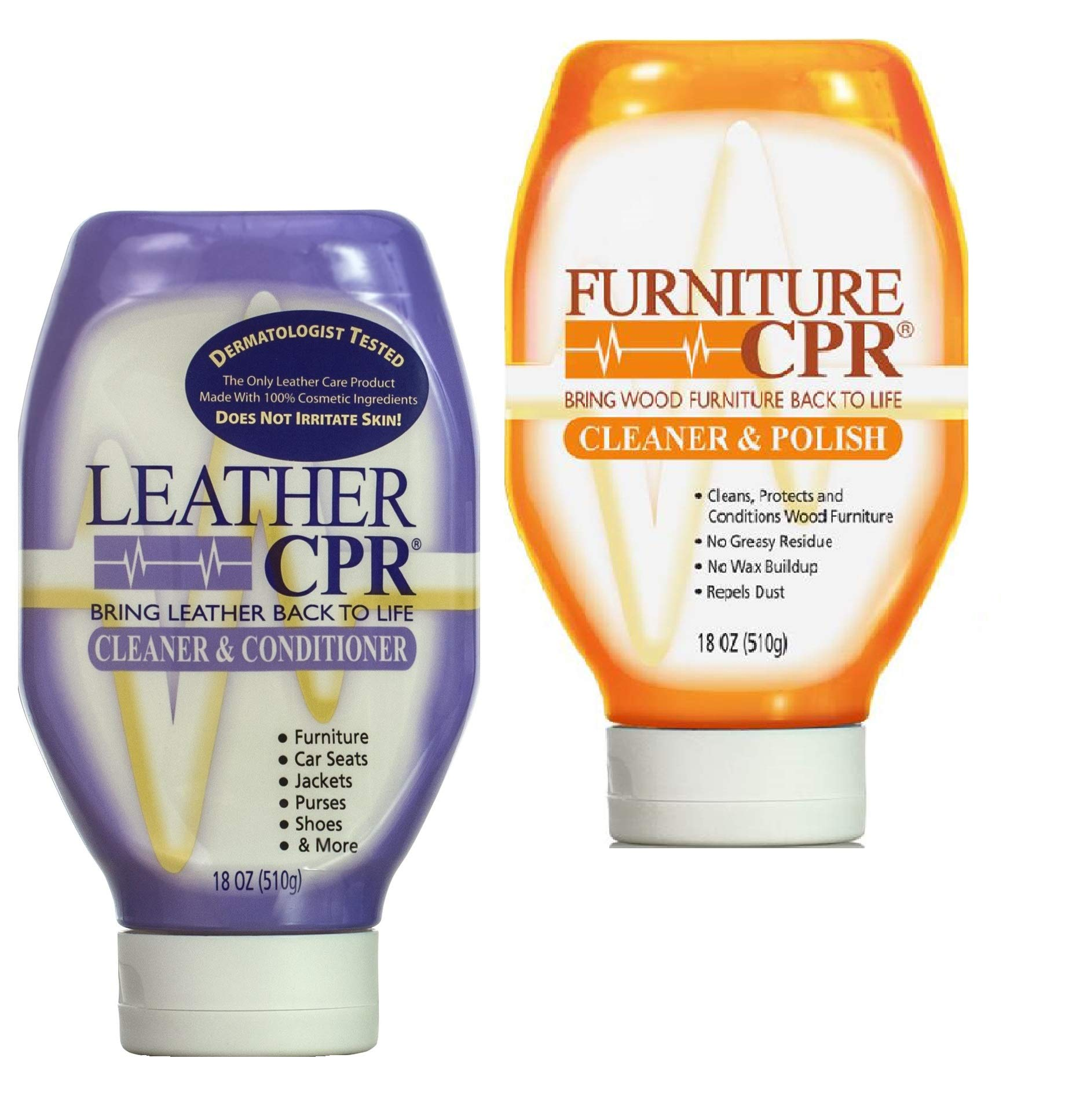 CPR Leather Furniture Cleaning Variety 2PK - Clean & Condition Leather, and Spruce Up Your Wood Furniture with This 2-in-1 Savings