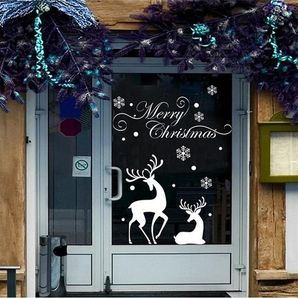 Cosanter Fensterbild Weihnachten Selbstklebend Fensterdeko
