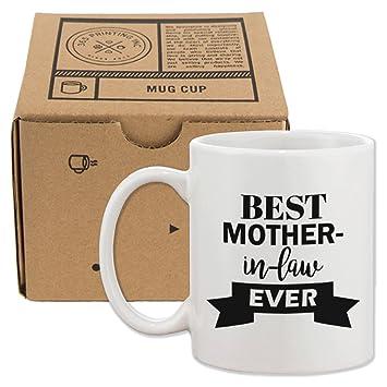 love mejor madre en ley nunca taza diseo de da de la madre o navidad