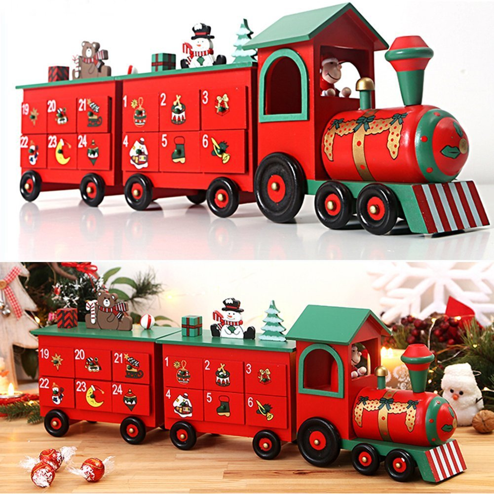 Christmas Train Advent Calendar Calendar New Home Xmas Decoration Reusable Christmas Countdown Present