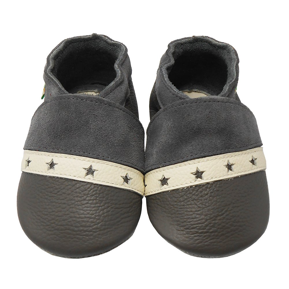 Sayoyo Baby Soft Sole Leather Infant Crib Shoes Toddler Pre-Walker Shoes Hollow Carved Design