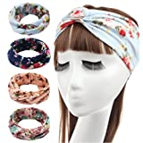 Amazon Price History for:Hippih 4 Pack Women's Headbands Elastic Turban Head Wrap Floal Style Twisted Knotted Hair Band