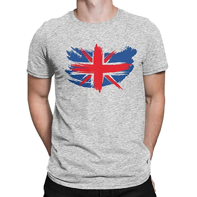 8ee94cace Image Unavailable. Image not available for. Color: DamianCruz. T-Shirt  Union Jack Flag Vintage Graphic Funny T Shirt UK United Kingdom