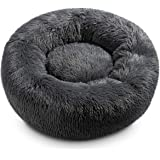 Hollypet donut kattbädd lugnande hundbädd varm hall bo sovsäng valpar hus för katter och små hundar