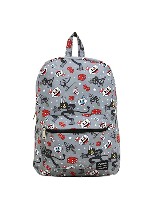 Amazon.com  Cuphead Devil   Dice Grey Backpack  Sports   Outdoors 062310e38e4c6