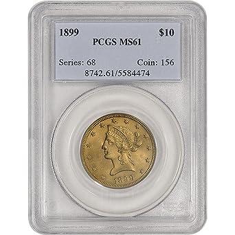 US Gold $5 Liberty Head Eagle PCGS MS64 Random Date